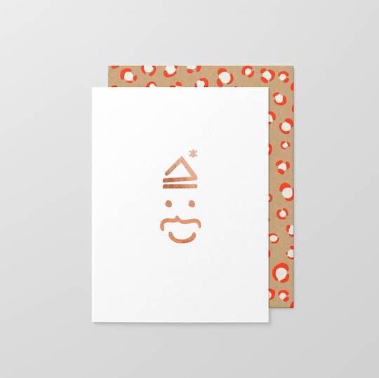 Christmas Card, Key Board Santa