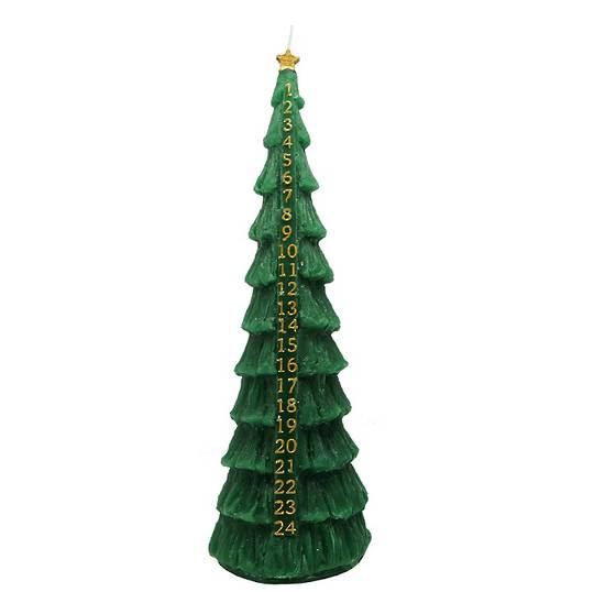 Advent Candle, Green Christmas Tree