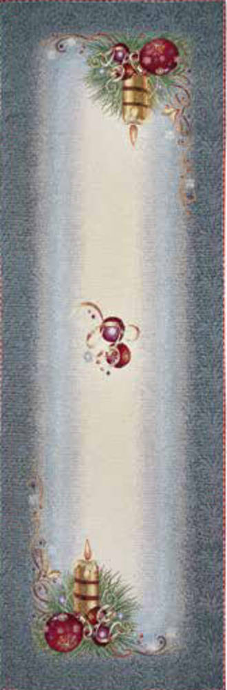 Silver Table Runner 45 x140cm