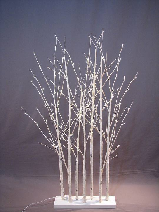 Birch Forest 1.5mtrs with 120 LED Lights