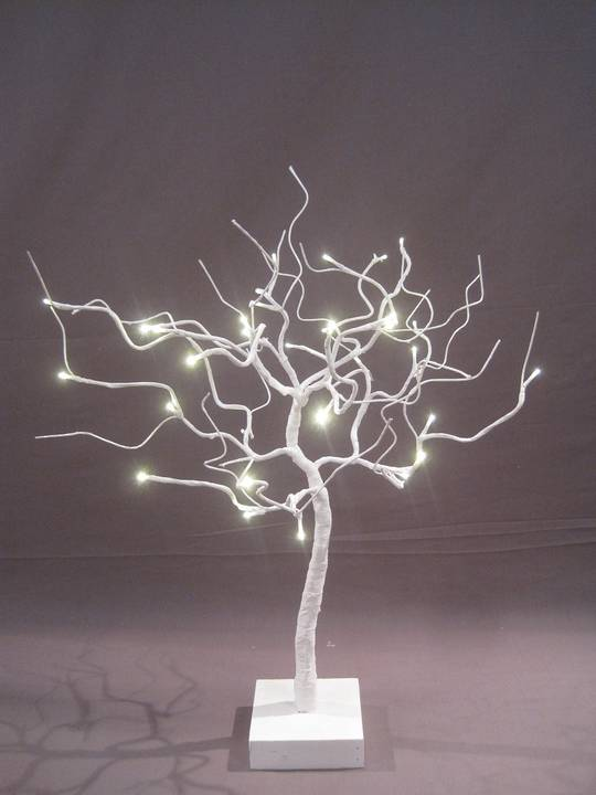 Pure White Wired Shrub 53cm with 32 LED Lights