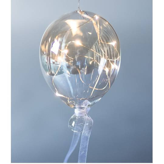 Twinkle Glass Balloon, Clear 14cm