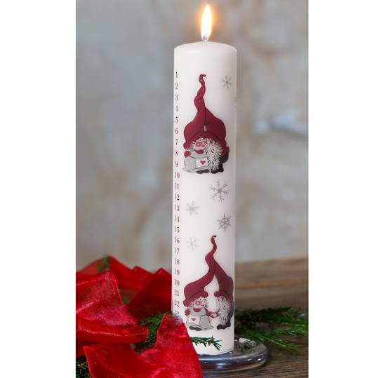 Advent Candle, Mr & Mrs Gnome