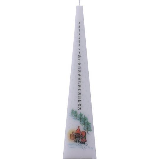 Advent Candle Pyramid, Gnomes with Lantern