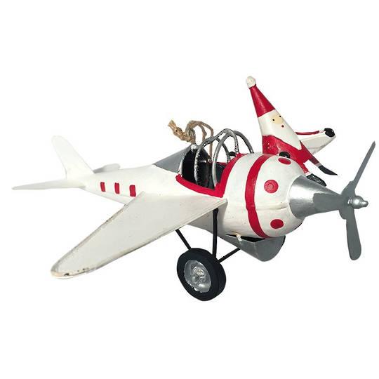 Tin Santa on White Plane's Wing