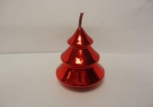 Metallic Mini Tree Candle 75x50 mm