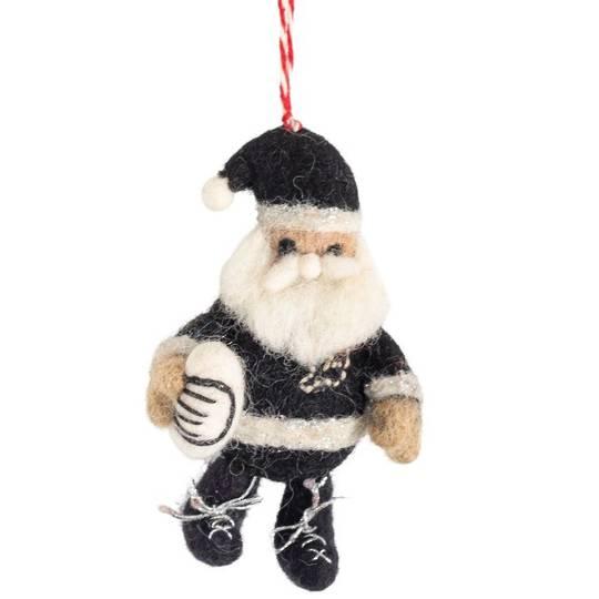NZ Wool, Rugby Santa 9x6cm