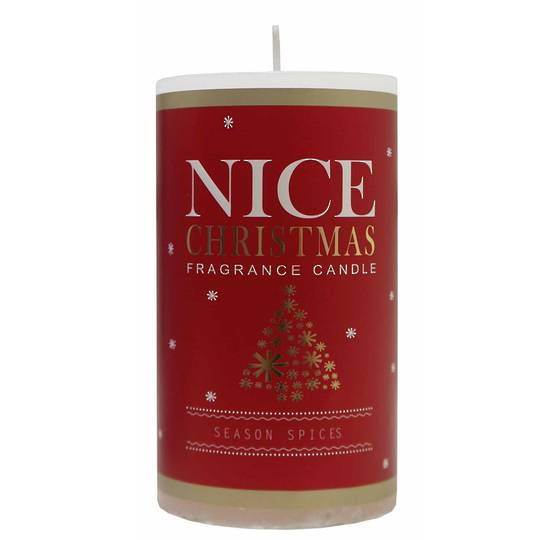 Nice Christmas Scented Pillar Candle