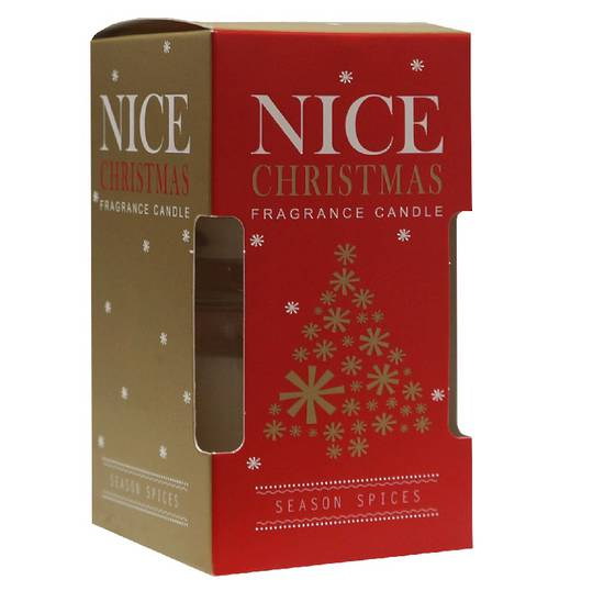 Nice Christmas Scented Candle in Clear Jar, Pair