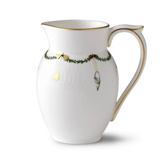 StarFluted Christmas Creamer