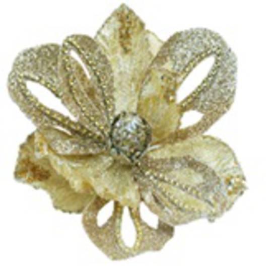 Gold Royal Magnolia Clip 25cm