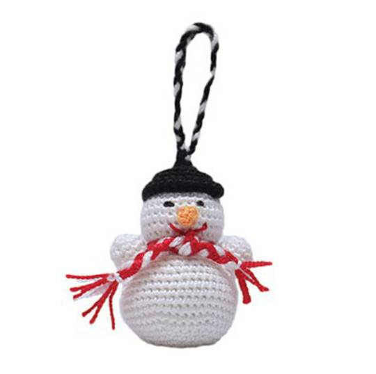 Mini Crocheted Snowman