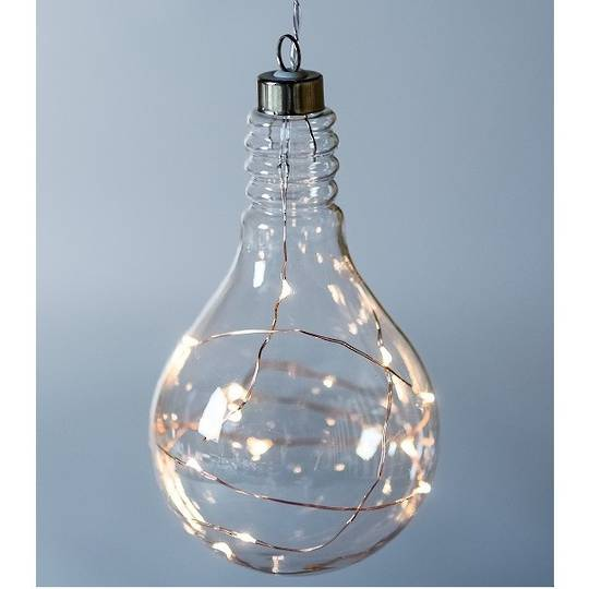 Twinkle Glass Light Bulb, Clear 14cm SOLD OUT