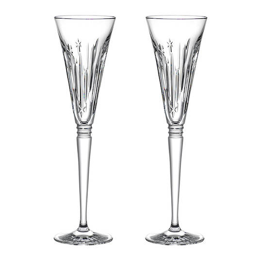 Waterford Winter Wonders Midnight Frost Flutes, Pair 2021
