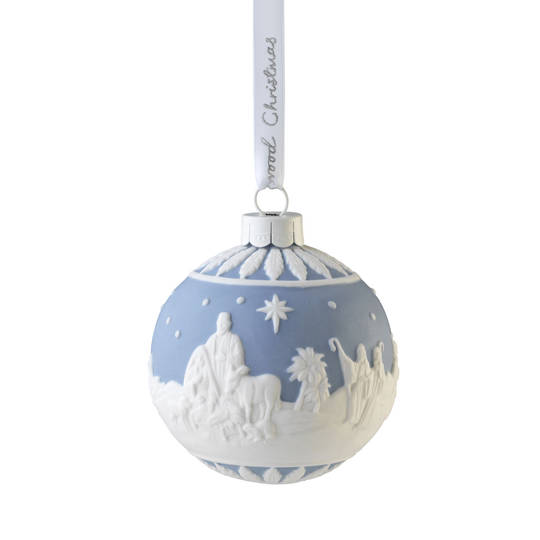 Wedgwood Porcelain Nativity Bauble