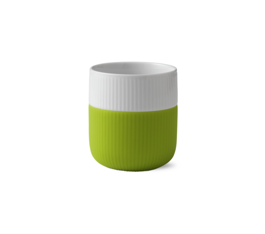 Royal Copenhagen Espresso Cup w/Silicon Sleeve, Lime Green