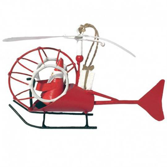 Tin Santa in Helicopter