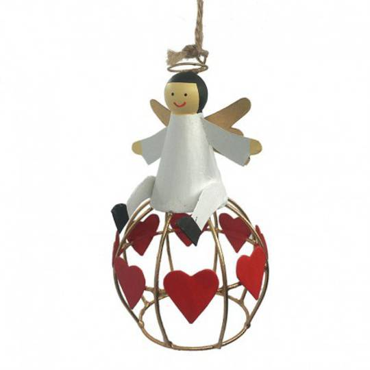 Tin Angel on Heart Globe