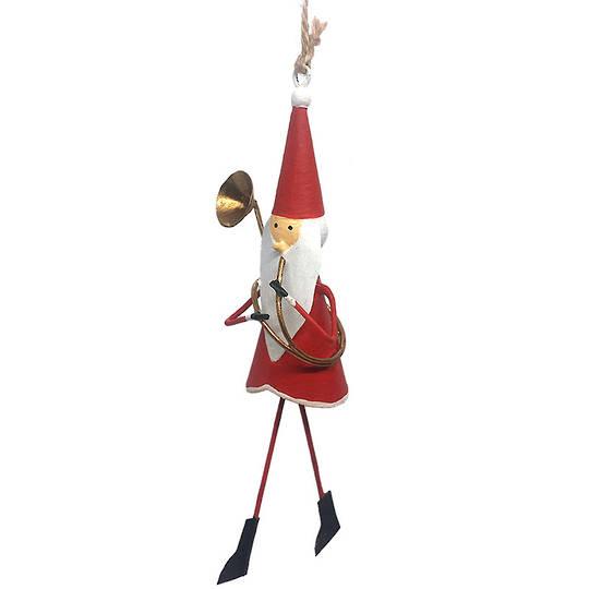 Tin Santa with Trombone 13cm