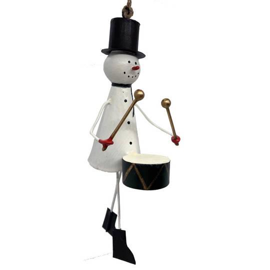 BIG Tin Snowman with Drum 25cm