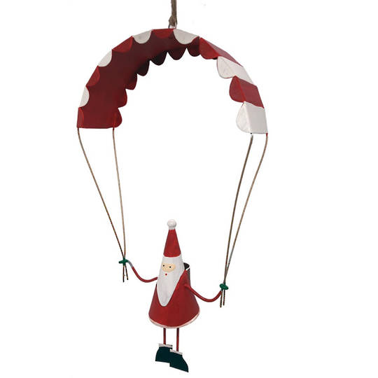 Tin Santa Paragliding 15cm