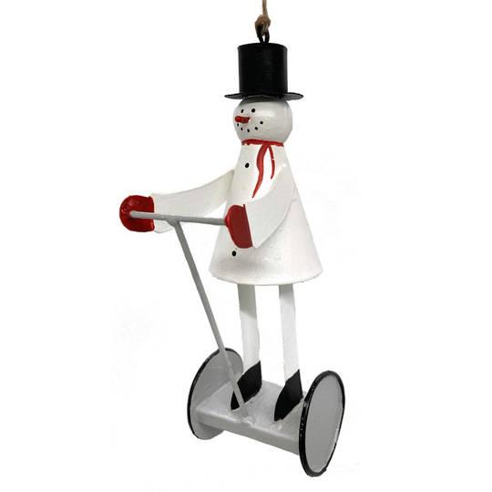 Tin Snowman Segway 11cm