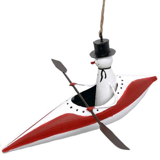 Tin Snowman Canoe 12cm