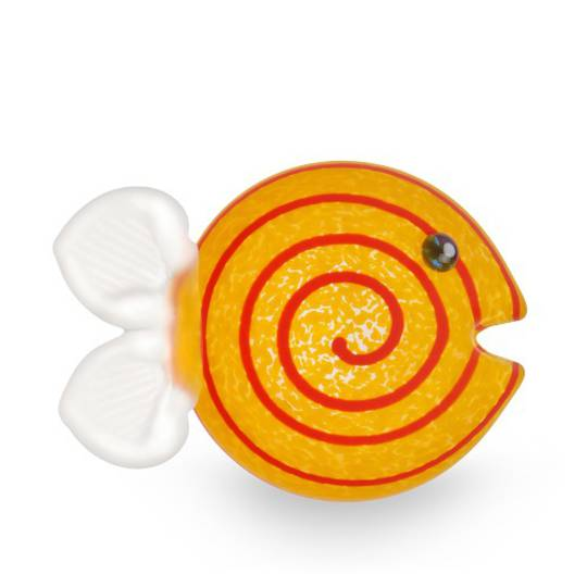 Artglass Guppy. Fish Paperweight. Yellow