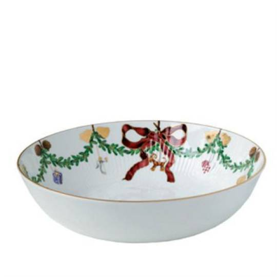 StarFluted Christmas Low Salad Bowl