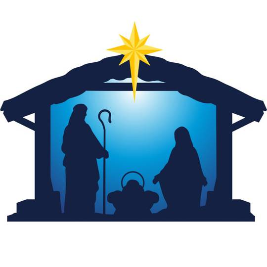 LED Flame Nativity Window Sticker