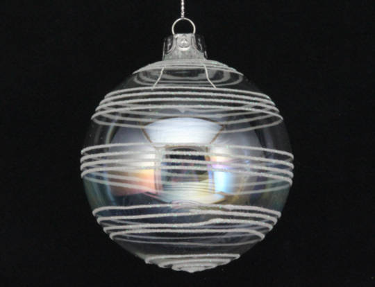 Glass Ball Soap Bubble, Astral Bands 8cm