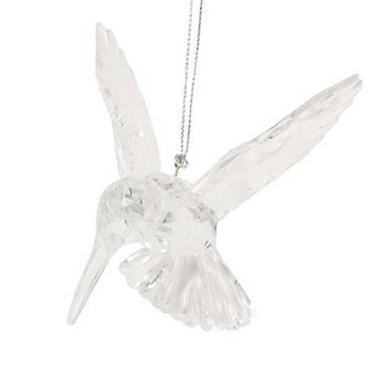 Hanging Clear Acrylic Humming Bird 10cm