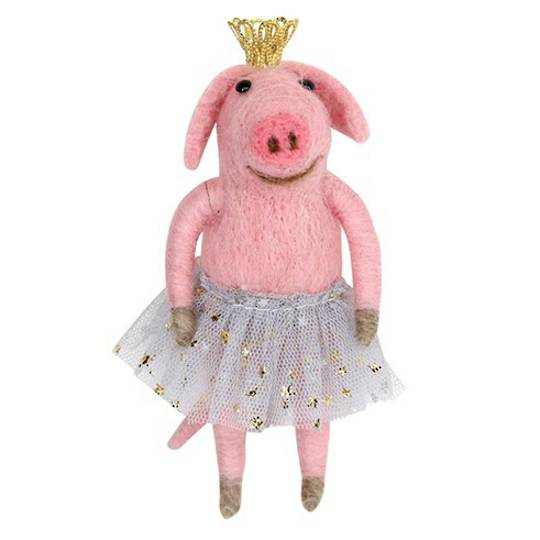 Eco Wool Ballerina Pig 11cm