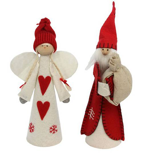 Scandinavian Felt Angel / Santa Tree Topper 25cm