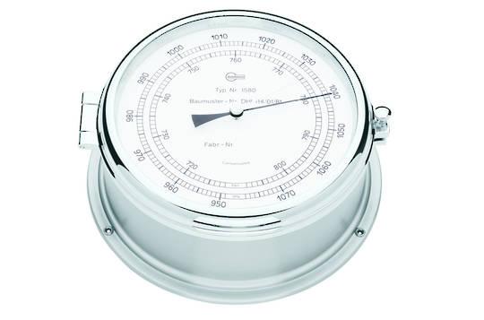 BM Marine Professional Chrome, Barometer & Clock Set 2
