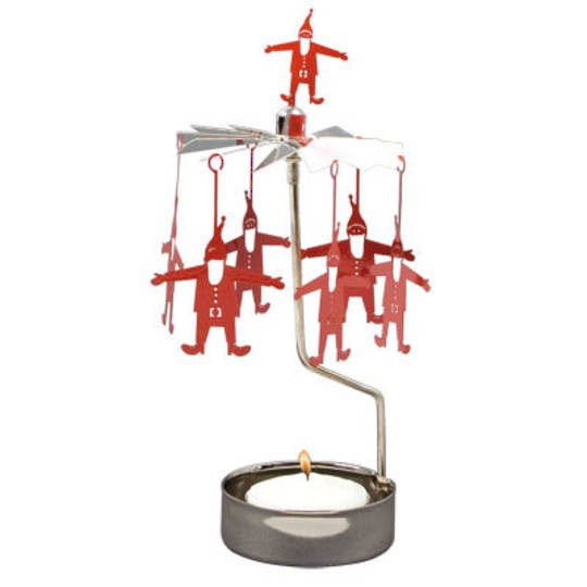 Rotary Candle Holder Red Santa SOLD OUT