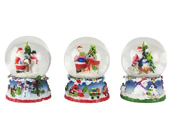 Mini SnowGlobe, Snowy Santa Scene 5cm
