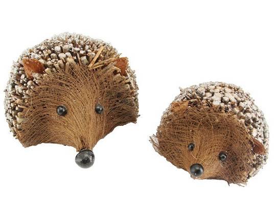 Glittered Twig Hedgehog