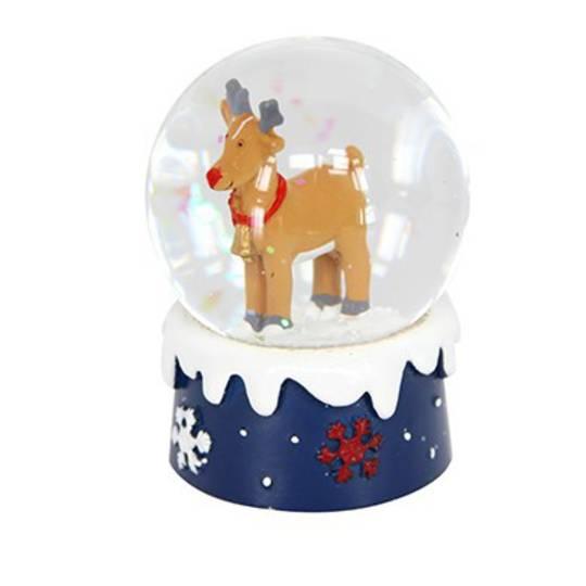Mini SnowGlobe, Brown Reindeer
