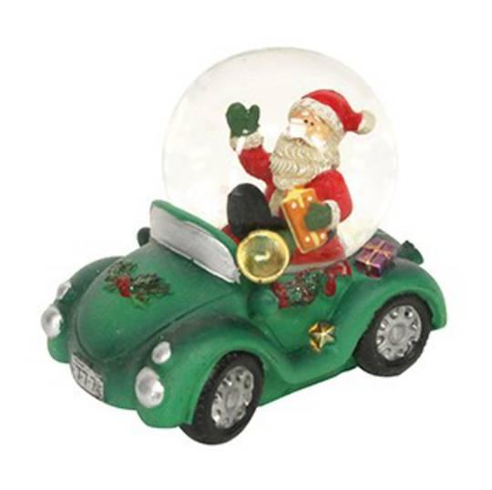 SnowGlobe Santa in Car 5cm