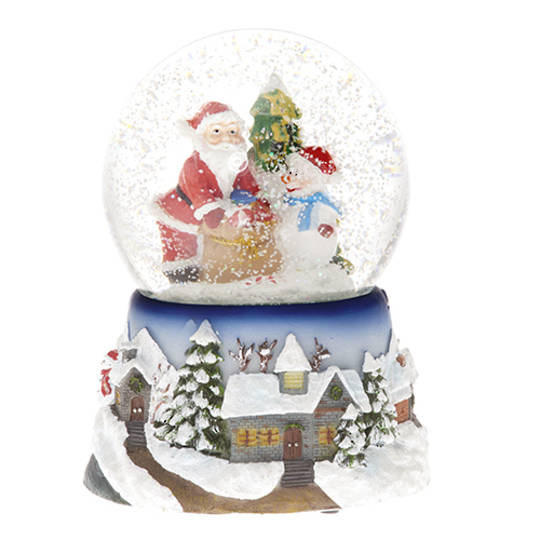 Musical LED SnowGlobe, Putting Presents Under The Tree