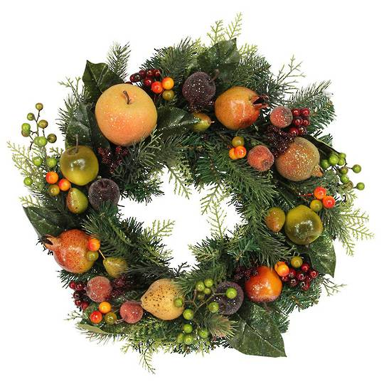 Fir Wreath with Fruits and Berries 42cm