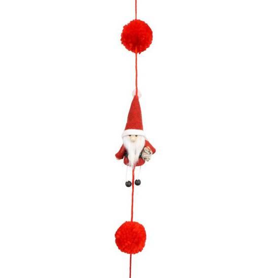Santa with Little Legs Garland 1.6mtr