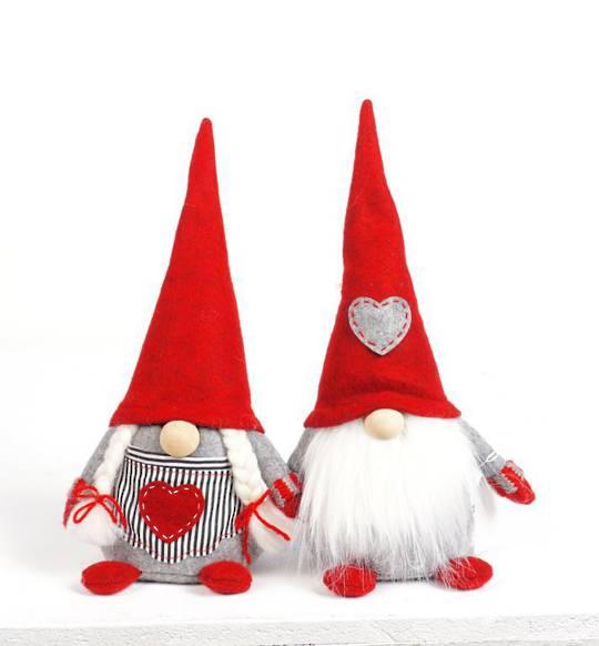 Plush Nordic Mr or Mrs Xmas Gnome Xtra Sml