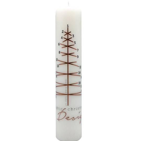 Advent Calendar Candle Graphic Christmas Tree