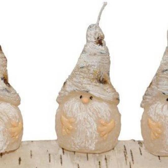 Xmas Birch Elf Candle, Curvy