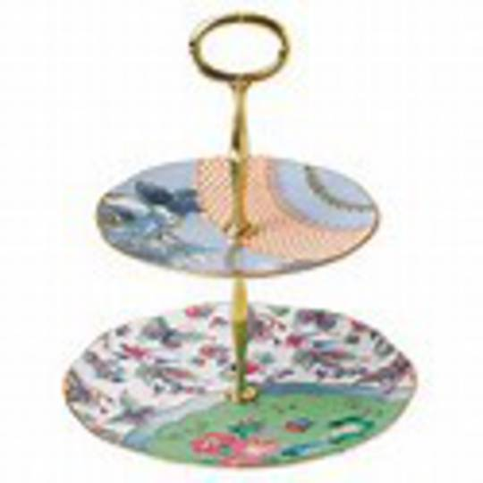 Wedgwood Butterfly Bloom 2 Tier Cake Stand