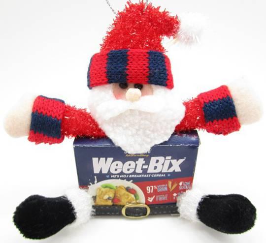 Iconic Hanging WeetBix Santa