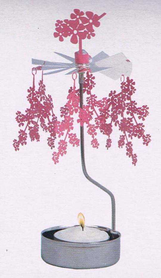 Rotary Candle Holder Cherry Blossom