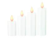 LED Flame Set Four Candle Window Sticker